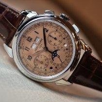 Patek Philippe Perpetual Calendar Chronograph Платина 41mm Розовый Aрабские