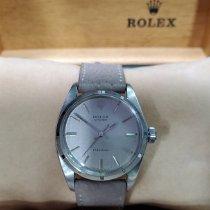 Rolex Oyster Precision Steel 34mm Silver No numerals