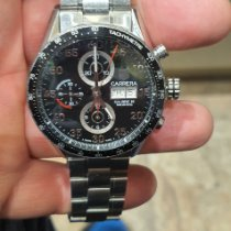 TAG Heuer Carrera Calibre 16 pre-owned Black Chronograph Date Steel