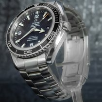 Omega Seamaster Planet Ocean Сталь 45.5mm Черный Aрабские