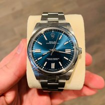 Rolex Steel Automatic Blue No numerals 41mm new Oyster Perpetual
