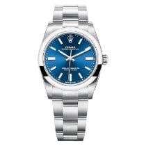 Rolex Oyster Perpetual 34 Steel 34mm Blue No numerals United States of America, Florida, Miami