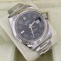 Rolex Datejust II Acero 41mm Gris Sin cifras