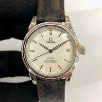 Omega De Ville Prestige pre-owned 35mm Silver Leather