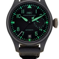 IWC Big Pilot Top Gun Titanio 48.6mm Negro Arábigos