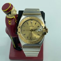 Omega Constellation Double Eagle Gold/Steel 35mm Champagne No numerals Malaysia