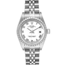 Rolex Steel Automatic White Roman numerals 26mm pre-owned Oyster Perpetual Lady Date