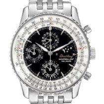 Breitling Navitimer 1461 gebraucht 41.5mm Schwarz Mondphase Chronograph Jahresanzeige Stahl
