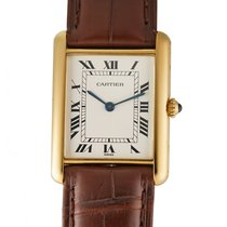 Cartier Tank Louis Cartier Yellow gold 24mm Silver Roman numerals United States of America, New York, New York