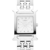 Hermès Heure H Stal 30mm Srebrny