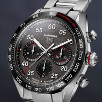 TAG Heuer Carrera Porsche Chronograph Special Edition Steel 44mm Grey