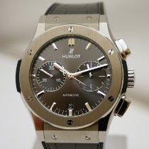 Hublot Classic Fusion Racing Grey gebraucht 45mm Grau Chronograph Datum Krokodilleder
