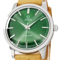 Omega Seamaster pre-owned 36mm Green Leather