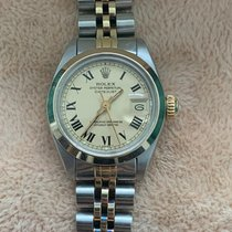Rolex Oyster Perpetual Lady Date Gold/Steel 26mm Yellow Roman numerals