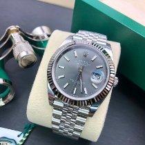 Rolex Datejust nuovo 2021 Automatico Orologio con scatola e documenti originali 126334 grey