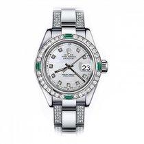 Rolex Oyster Perpetual Lady Date 69160 Πολύ καλό Ατσάλι 26mm Αυτόματη