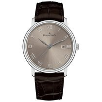 Blancpain White gold Automatic Roman numerals 40mm new Villeret Ultra-Slim