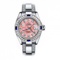 Rolex Oyster Perpetual Lady Date 69160 Sehr gut Stahl 26mm Automatik