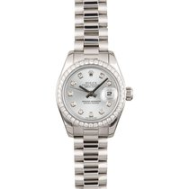Rolex Platinum Automatic 26mm pre-owned Lady-Datejust