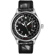 IWC Pilot Worldtimer Steel 45mm Arabic numerals United States of America, New York, New York