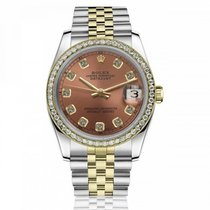 Rolex Lady-Datejust 69173 Odlično Zlato/Zeljezo 26mm Automatika