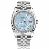 Rolex Oyster Perpetual Lady Date 69160 Очень хорошее Сталь 26mm Автоподзавод
