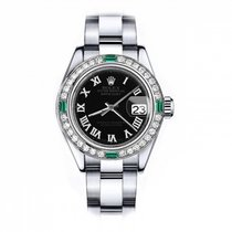 Rolex Oyster Perpetual Lady Date 69160 Muy bueno Acero 26mm Automático