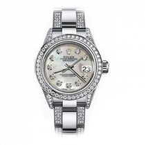 Rolex Oyster Perpetual Lady Date 69160 Zeer goed Staal 26mm Automatisch