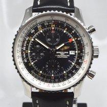 Breitling Navitimer World Steel 46mm Black No numerals