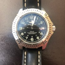 Breitling Colt Quartz pre-owned 38mm Black Date Leather