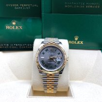 Rolex Datejust Gold/Stahl 41mm Grau