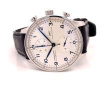 IWC Portuguese Chronograph Сталь Cеребро Aрабские