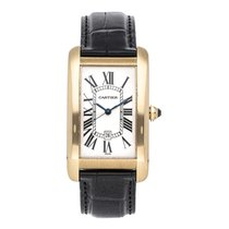 Cartier Yellow gold Automatic Silver 45.1mm pre-owned Tank Américaine