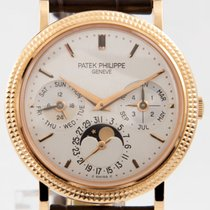 Patek Philippe Perpetual Calendar pre-owned 36mm Moon phase Perpetual calendar Crocodile skin