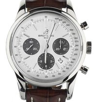 Breitling Transocean Chronograph Steel 43mm Silver United States of America, Illinois, BUFFALO GROVE