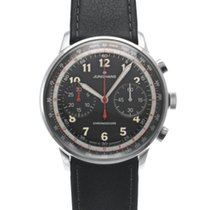 Junghans Meister Telemeter pre-owned 40.8mm Black Leather