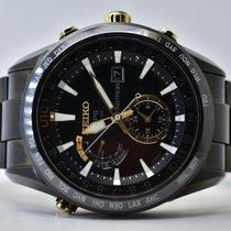 Seiko Astron GPS Solar Steel 47mm Black No numerals