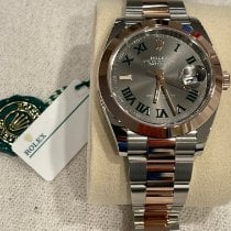 Rolex Rose gold Automatic Grey Roman numerals 41mm new Datejust