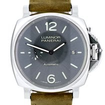 Panerai Luminor Due pre-owned 42mm Grey Leather