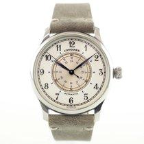 Longines Lindbergh Hour Angle Steel 38mm Arabic numerals