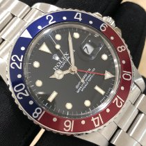 Rolex GMT-Master Stål 40mm Sort Ingen tal