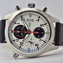 IWC Fliegeruhr Doppelchronograph Stahl 44mm Schwarz Arabisch Deutschland, Iffezheim