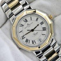 Baume & Mercier Riviera Gold/Stahl 34mm Weiß Römisch