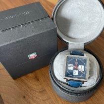 TAG Heuer Monaco gebraucht 39mm Blau Chronograph Leder