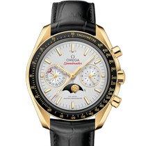 Omega Желтое золото Автоподзавод Cеребро новые Speedmaster Professional Moonwatch Moonphase