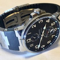 Ulysse Nardin Marine Chronometer 41mm Stål 41mm Sort Arabertal