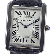 Cartier Tank Solo Stål 27mm Hvid Romertal