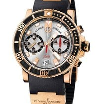 Ulysse Nardin Rose gold Automatic Silver pre-owned Maxi Marine Diver