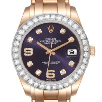 Rolex Pearlmaster Ouro rosa 39mm Violeta Romanos