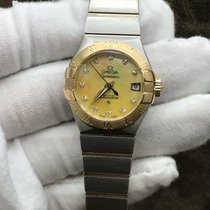 Omega Constellation Ladies pre-owned 27mm Champagne Date Gold/Steel